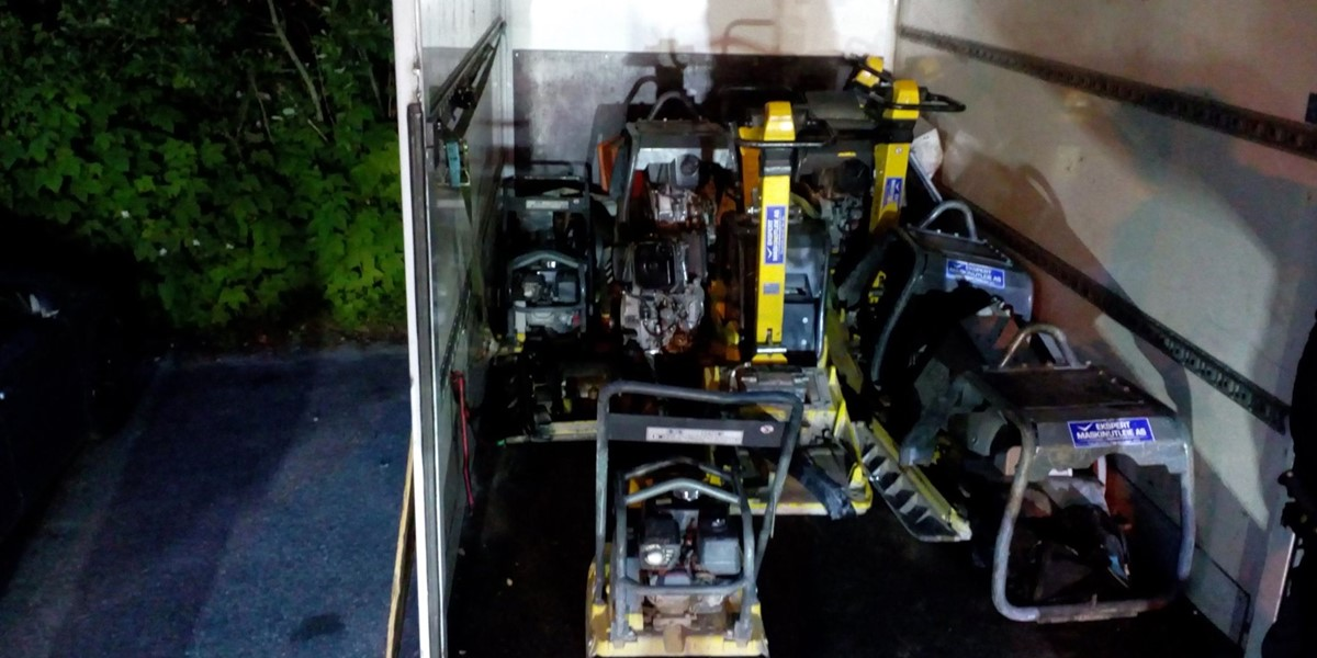 Image of Van loaded with stolen machines found with GSGroup tracking solution